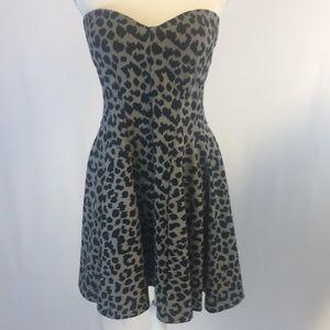 VICTORIA's SECRET 36C Animal Print strapless Dress